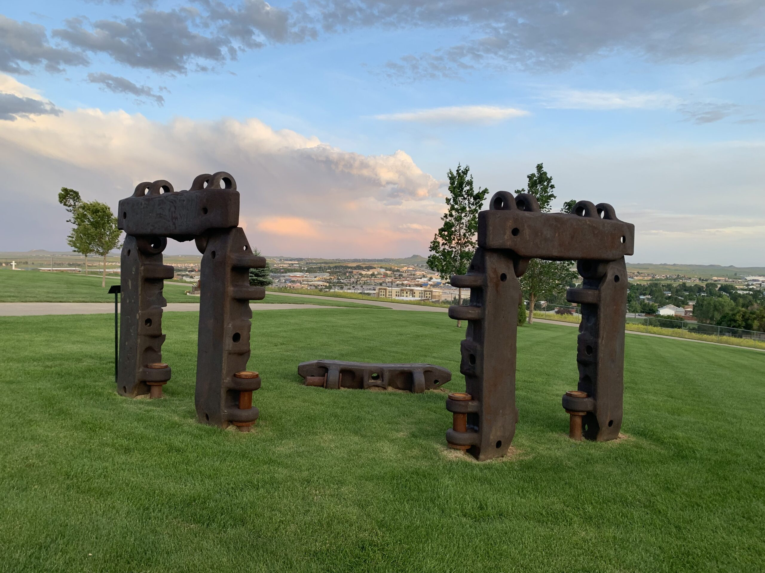 Shovel Shoe Henge, a sculpture located in a cemetery overlooking Gillette, meant to pay tribute to the coal industry.
