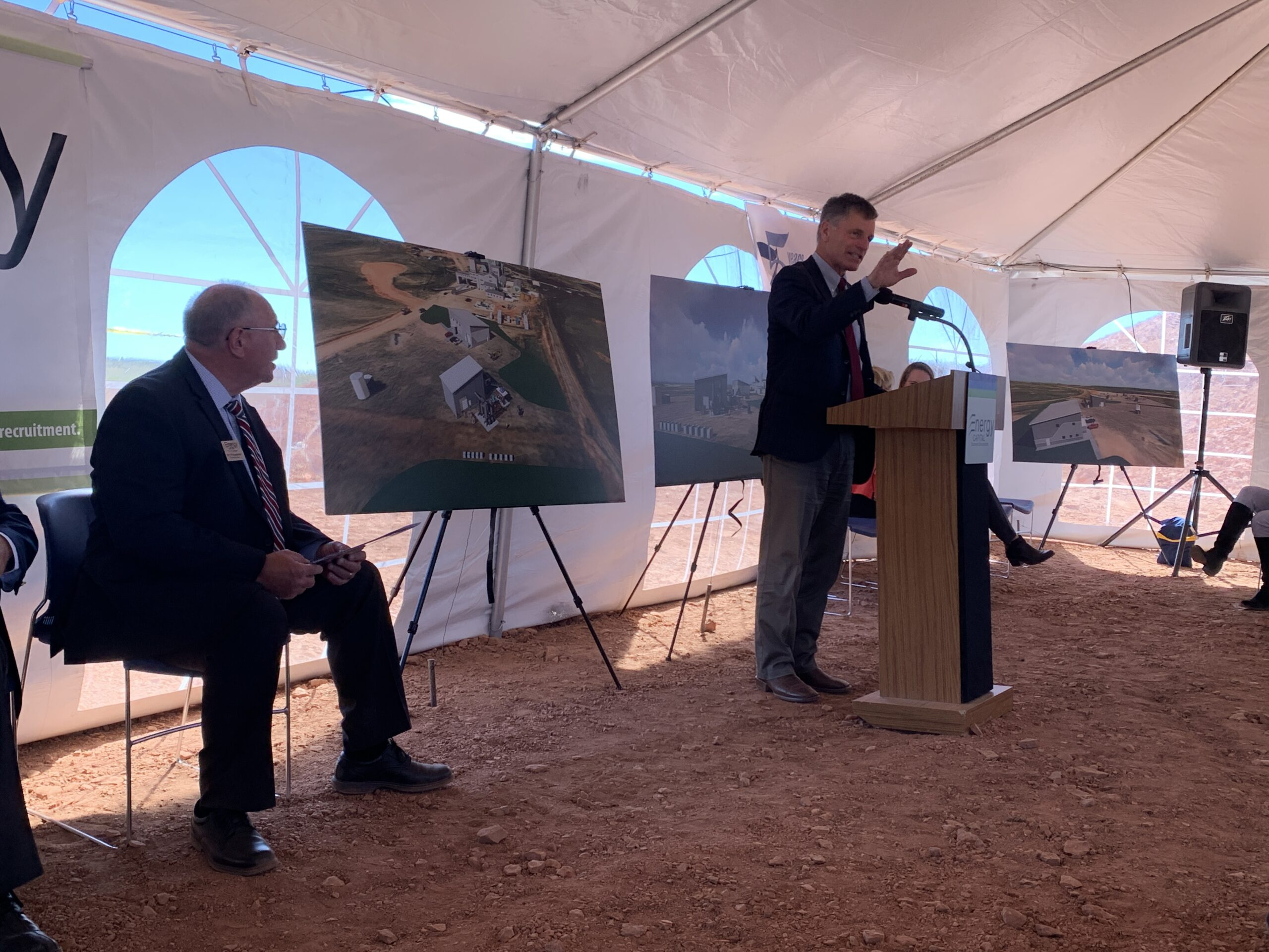 Governor Mark Gordon speaking at the groundbreaking ceremony for the Wyoming Innovation Center
